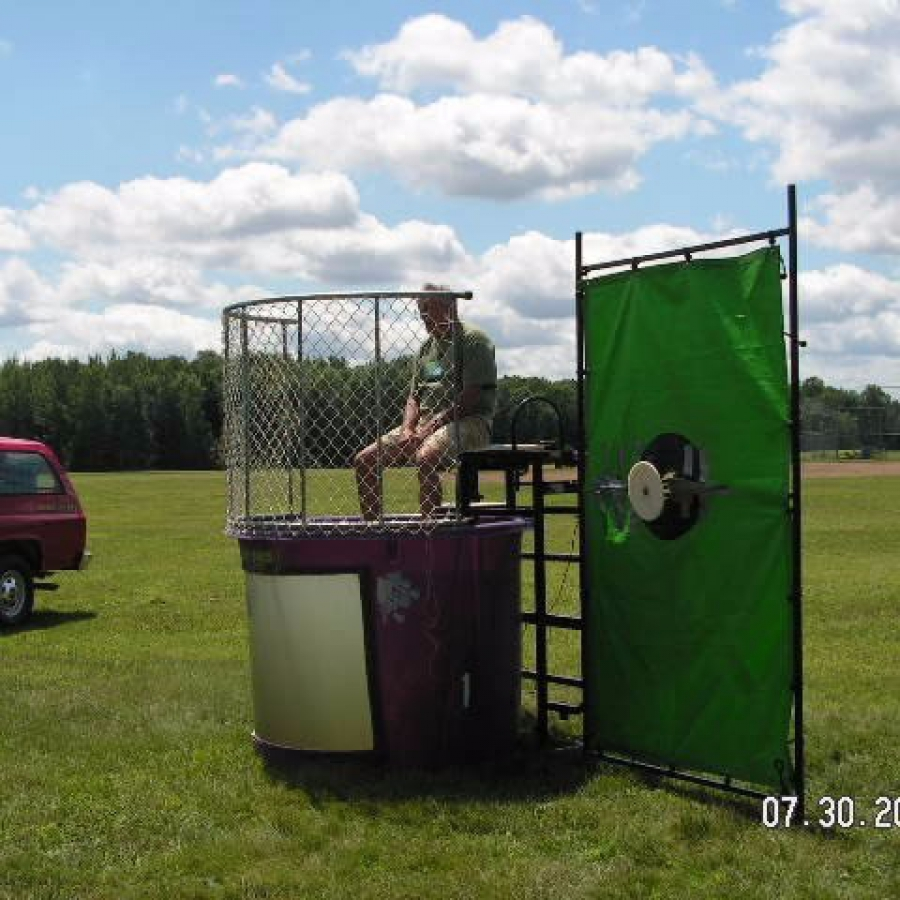 Mikes turn in dunk tank